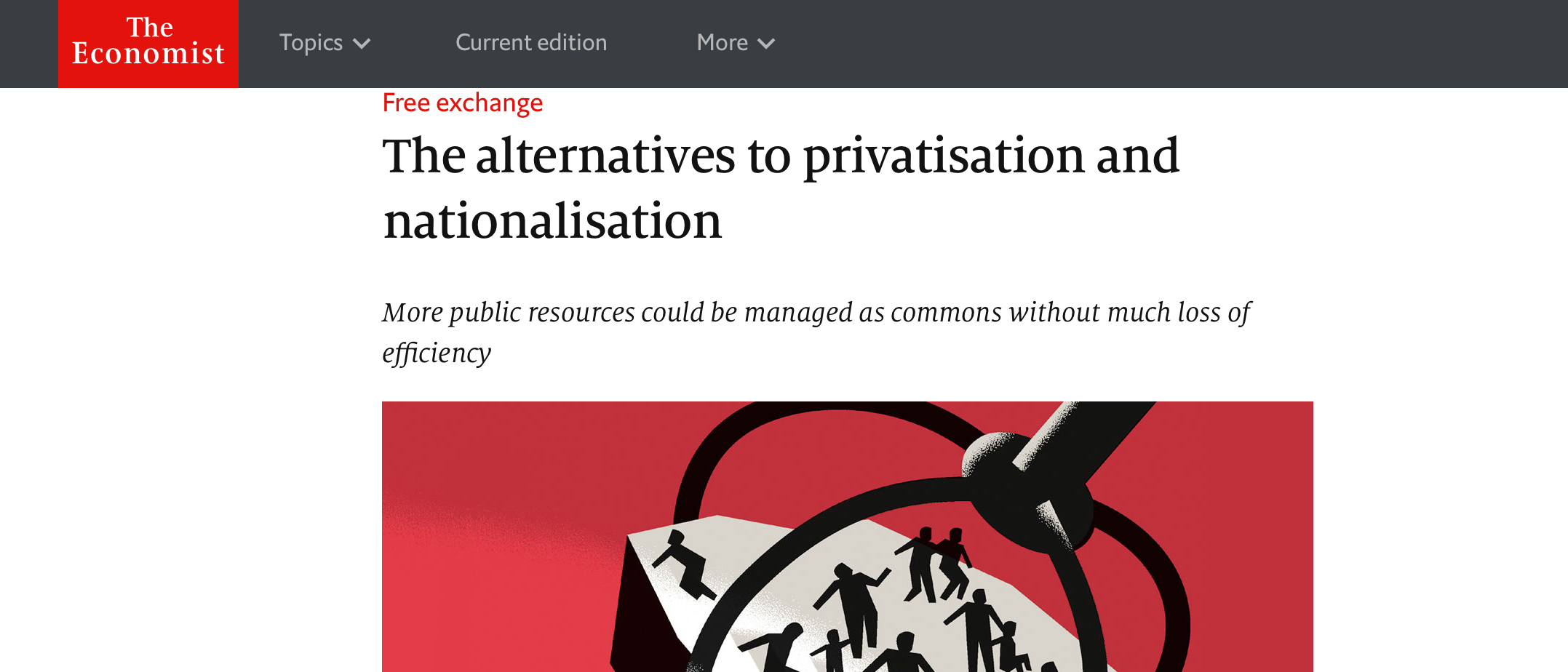 The Economist - The alternatives to privatisation and nationalisation